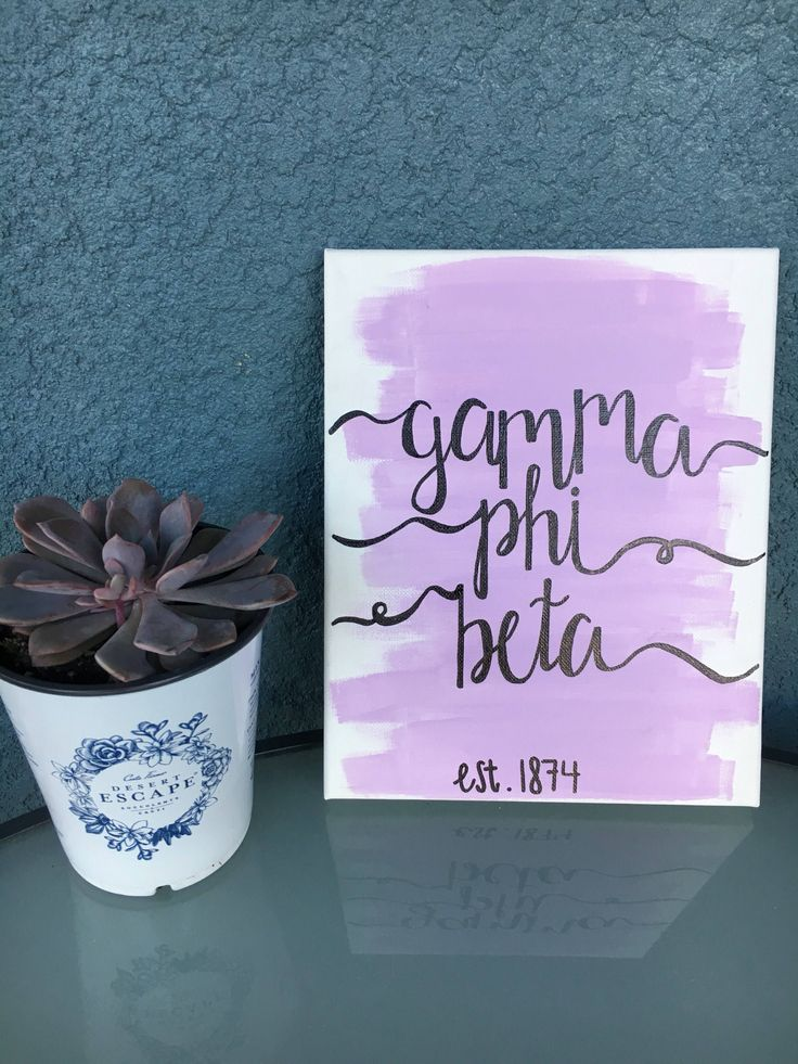 Excited to share the latest addition to my #etsy shop: Customizable Sorority Canvas // Gamma Phi Beta // Lavender