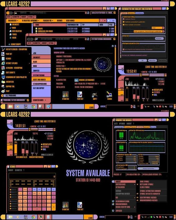 This is a Star Trek LCARS visual style for Windows 7. You can use it for the 64 bit and 32 bit version. It contains the visual style files, the GTJLCARS Screensaver and the correct fonts. This visu...