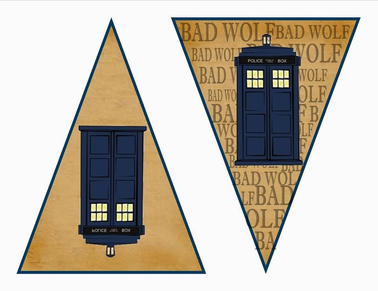Dr. Who Free Printable Kit including cupcake wrappers, banners, and bookmarks.