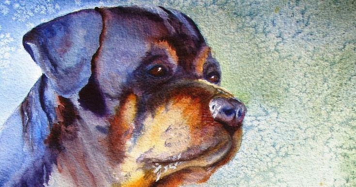 This is a painting I completed to donate to the Rottweiler Rescue.  Their names are Chance and Tiller and they belonged to a very ...