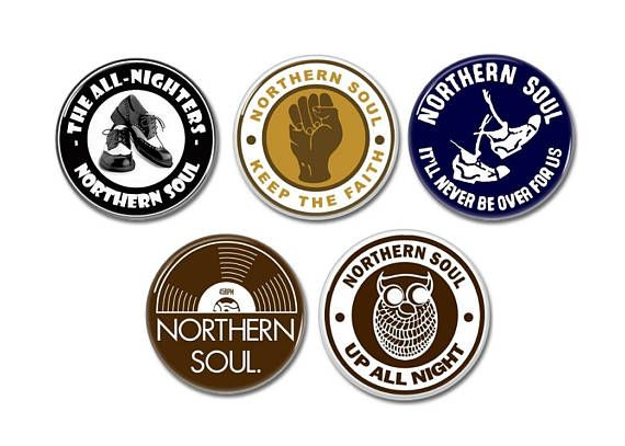 Northern Soul buttons/badges set of 5!  #northernsoul #soul #mod #buttons #badges #pinsbacks #pins #stax #motown
