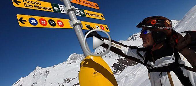 Snowkite a La Thuile