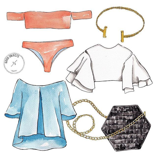 Good objects - Keeping the summer vibes with this lovely post by Laura from @fashionlessons with the top colombian designers to follow. Link on bio. #goodobjects #illustration
