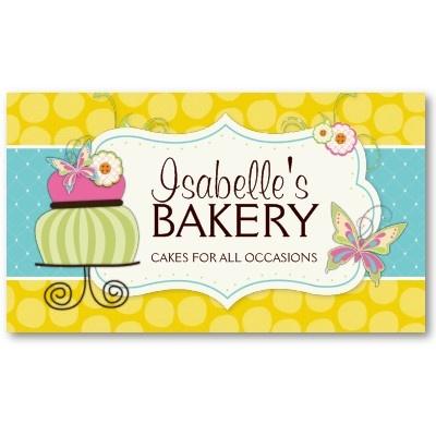 Whimsical Bakery Business Card