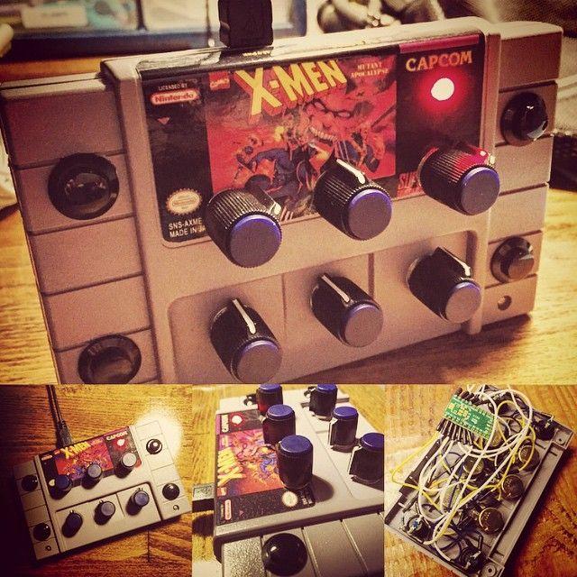 "#DIY #MIDI Controller #5 ""SNES Twist"" with Mini Arcade Buttons is now 100% complete!! #XMen #Nintendo #SNES #SuperNintendo  #VideoGames #DJ #ableton #traktor #fingerdrumming #samples #soundpacks #teensy #arduino #knobs #Arcade #Buttons"