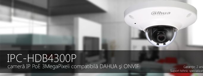 CAMERA IP DOME EXTERIOR 3MegaPixeli IPC-HDB4300P