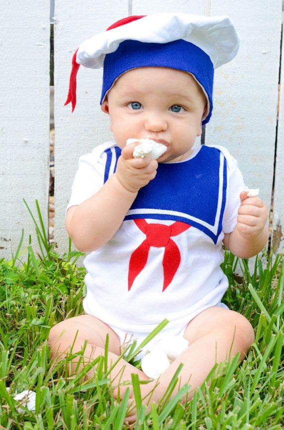 Stay Puft Baby Costume / Toddler Halloween Costume, Kids Halloween Costume, Marshmallow Man, Ghost, Baby Geekery