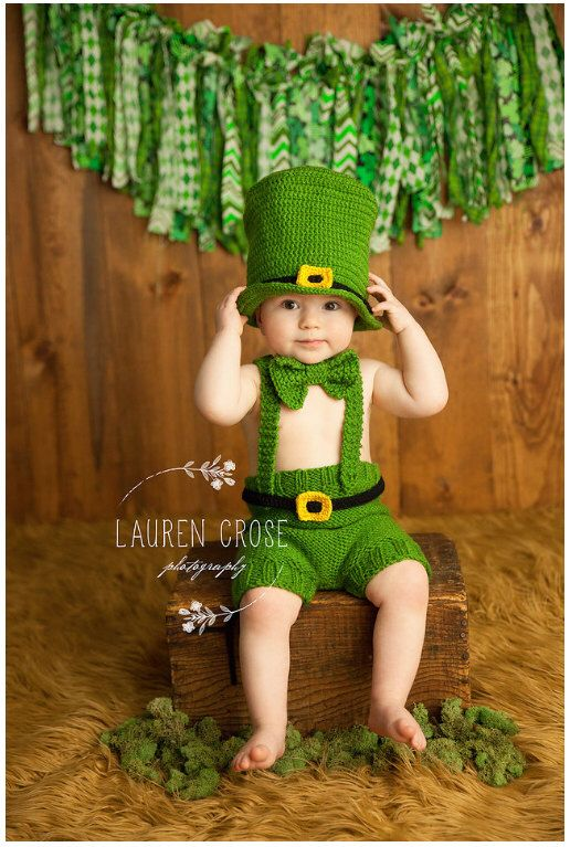 Luck of the Irish Hat and Pants Set, Irish Hat, St Patrick Day Baby, Photo Prop for Kids by sweetpeatoadtots on Etsy https://www.etsy.com/listing/226696934/luck-of-the-irish-hat-and-pants-set