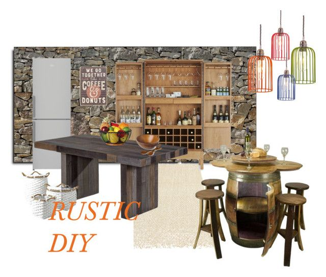 """""""DIY RUSTICO"""" by tarekzg on Polyvore featuring interior, interiors, interior design, hogar, home decor, interior decorating, Brewster Home Fashions, Ralph Lauren Home, Crate and Barrel y Moe's Home Collection"""