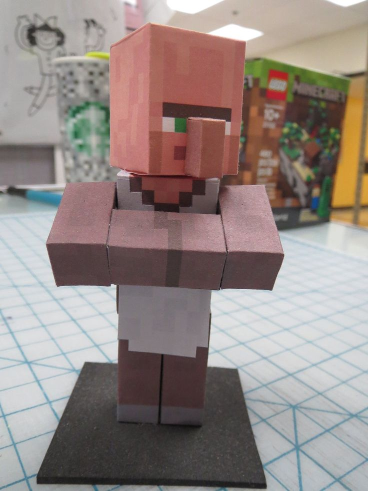 Minecraft Papercraft Villager By Hernandroid Deviantart