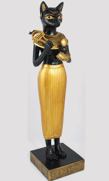 Egyptian cats goddess and statue on pinterest