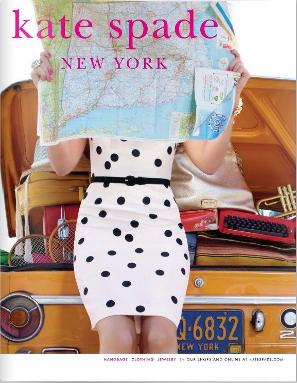 kate spade: Polka Dots Dresses, Polkadot, Cute Dresses, Spade Polka, Inspiration Watches, Spade Ads, Roads Trips, Kate Spade, Menswearinspir Watches