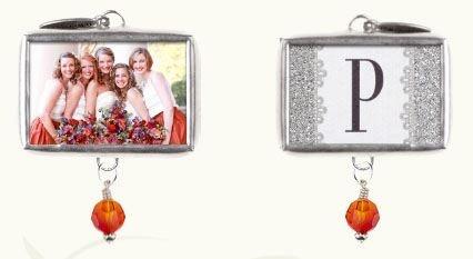 personalized bridesmaid charm