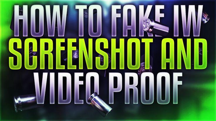How to Fake IW Screenshot and Video Proof https://youtu.be/Rec9R4e7T1c