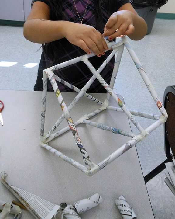 Kaseberg's Kreations: Fourth Grade: Form Frenzy! Geometric Newspaper Sculpture