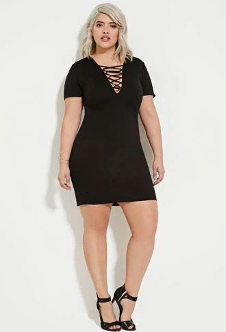 Plus Size Lace-Up Mini Dress | Forever 21 PLUS #forever21plus