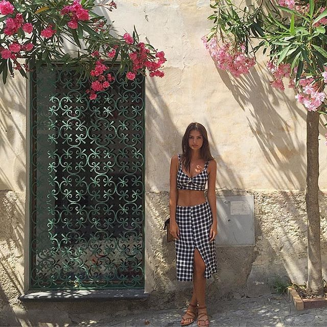 Emily Ratajkowski in Positano wearing the Clinton Two Piece. https://www.thereformation.com/products/petites-clinton-two-piece-nashville?utm_source=pinterest&utm_medium=organic&utm_campaign=PinterestOwnedPins