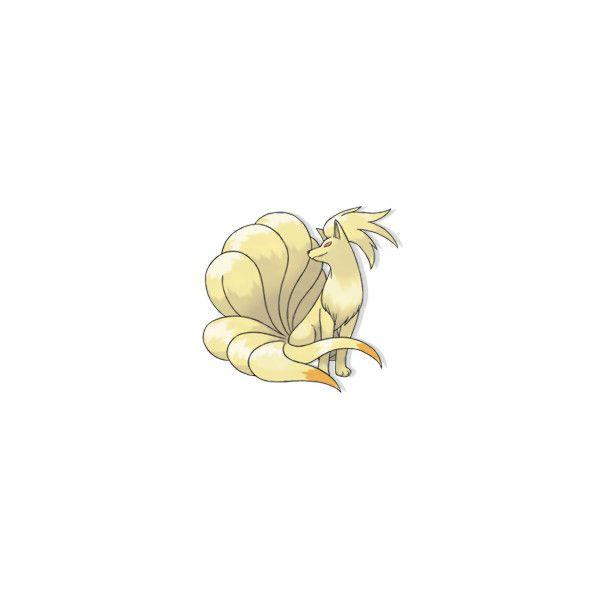 """""""Ninetales"""" pokédex • Pokemon Database ❤ liked on Polyvore featuring pokemon, animals and backgrounds"""