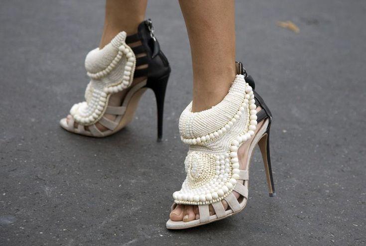 Giuseppe Zanotti for Kanye West -- this style looks confused (a winter slipper for evening wear?) #giuseppezanottiheelskanyewest