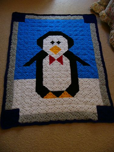 Free Crochet Pattern Penguin Afghan Pakbit For