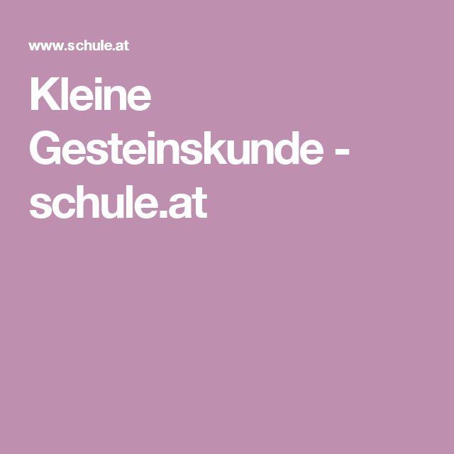 Kleine Gesteinskunde - schule.at