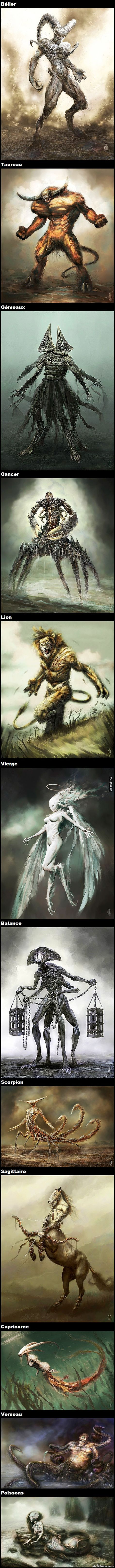 Les 12 signes du Zodiaque en Monstres Terrifiants – Québec Meme +