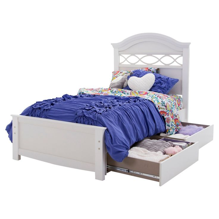 Safi Storage Bed with Headboard Eternal White (Twin) - South Shore