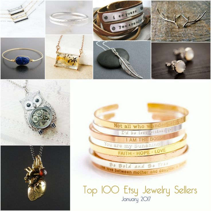 Top 100 Etsy Jewelry Sellers 2017