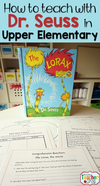 I love Dr. Seuss! So I found a way to use it to teach Upper Elementary 4th thru 6th grades (Big Kids)! Come read how I turned The Lorax into a Common Core Language Arts Unit using the book and movie. (The movie comprehension questions are my fav)
