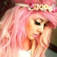 @ambersuttles....this is so YOU!!!!: Hair Colors, Pink Hair, Pinkhair, Pastel Pink, Hair Style, Pastel Hair, Floral Crowns, Colors Hair, Pastelpink
