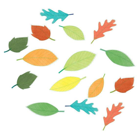 Leaves Wall Stickers Multicoloured - Wall Glamour