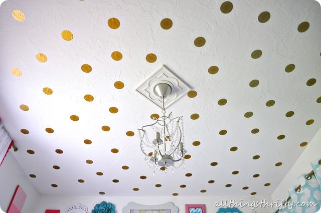 Love this polka dot ceiling!