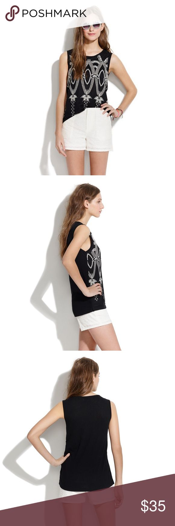 🆕 Madewell Oaxaca tank in black The lovely Oaxaca embroidered tank top!  In black with detailed cream embroidery, breezy and lightweight. In excellent used condition, only selling because it doesn't fit anymore.   Size medium More pics coming soon! Madewell Tops Tank Tops