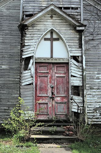 It's sad to see an abandoned church.