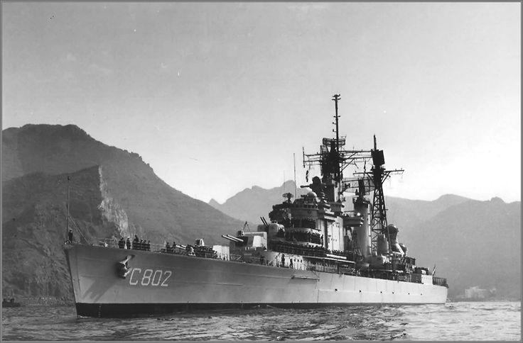 Dutch light cruiser De Zeven Provincien, Tenerife, early seventies.