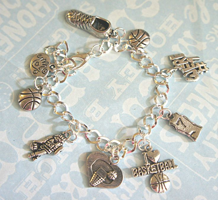 basketball charm bracelet - my daughter would love this!