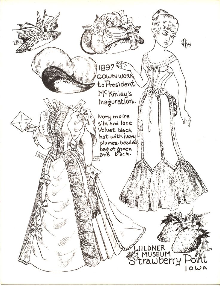 142 best Black and white paper dolls images on Pinterest White