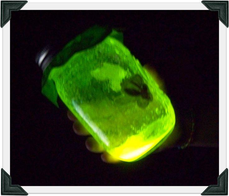 Family fun craft, glow jars!