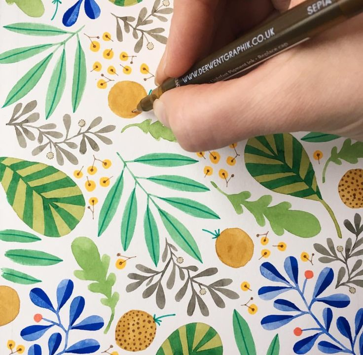 Kirsten sevig instagram pinterest watercolor for Painting projects