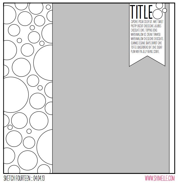 sketch to Scrapbook Page @ shimelle.com