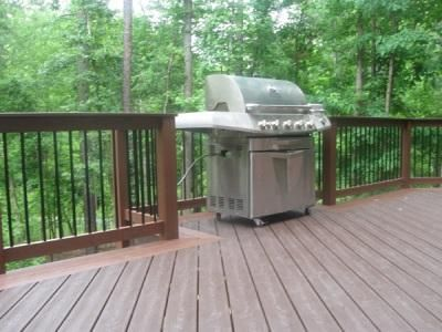 Railing With Cut Out For Grill House Decks Pinterest