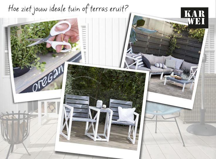 KARWEI   Pin jouw ideale tuin of terras en maak kans op een KARWEI KadoKaart t.w.v. €150,-