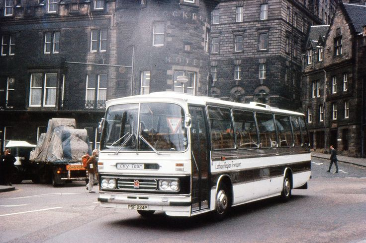 https://flic.kr/p/68qVc9 | Waverley, Dominant, Cockburn Hotel | A Bedford YMT with Duple Dominant bodywork, heads towards the coach stands on Waverley Bridge, to pick up  a tour party on a rather overcast looking day in 1976.  Out of the picture to the right is the Edinburgh Festival Office where I was employed at the time, working the lift.  The lorry is turning off Waverley Bridge into Market Street is laden with newsprint for The Scotsman and the Edinburgh Evening News which at the time…