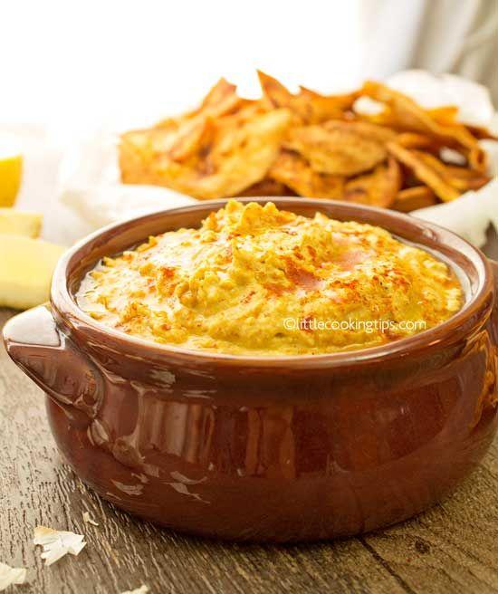 Creamy Spicy Hummus and Paprika Pita Chips