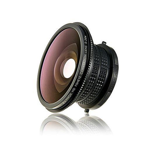 Med en Raynox HDP-2800ES försättslins på kameran blir det extremt mycket vidvinkel. Passar på både stillbilds- och videokameror.