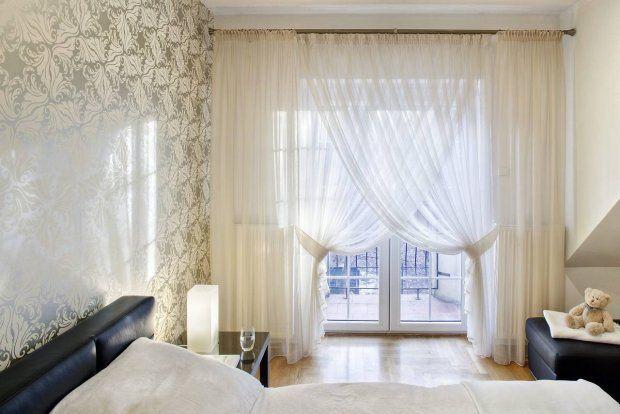 bedroom curtain / firany w sypialni