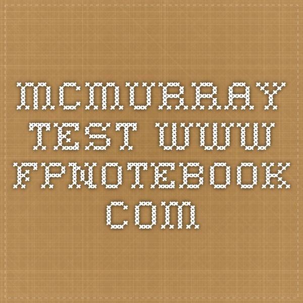 McMurray Test  www.fpnotebook.com