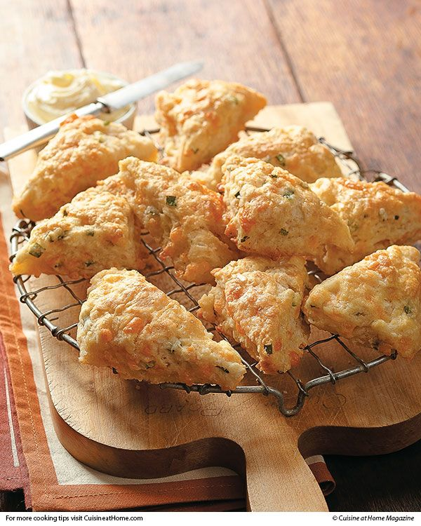 Mini Cheddar Scones | Make this to eat with Irish Stew.  Cuisine at home eRecipes