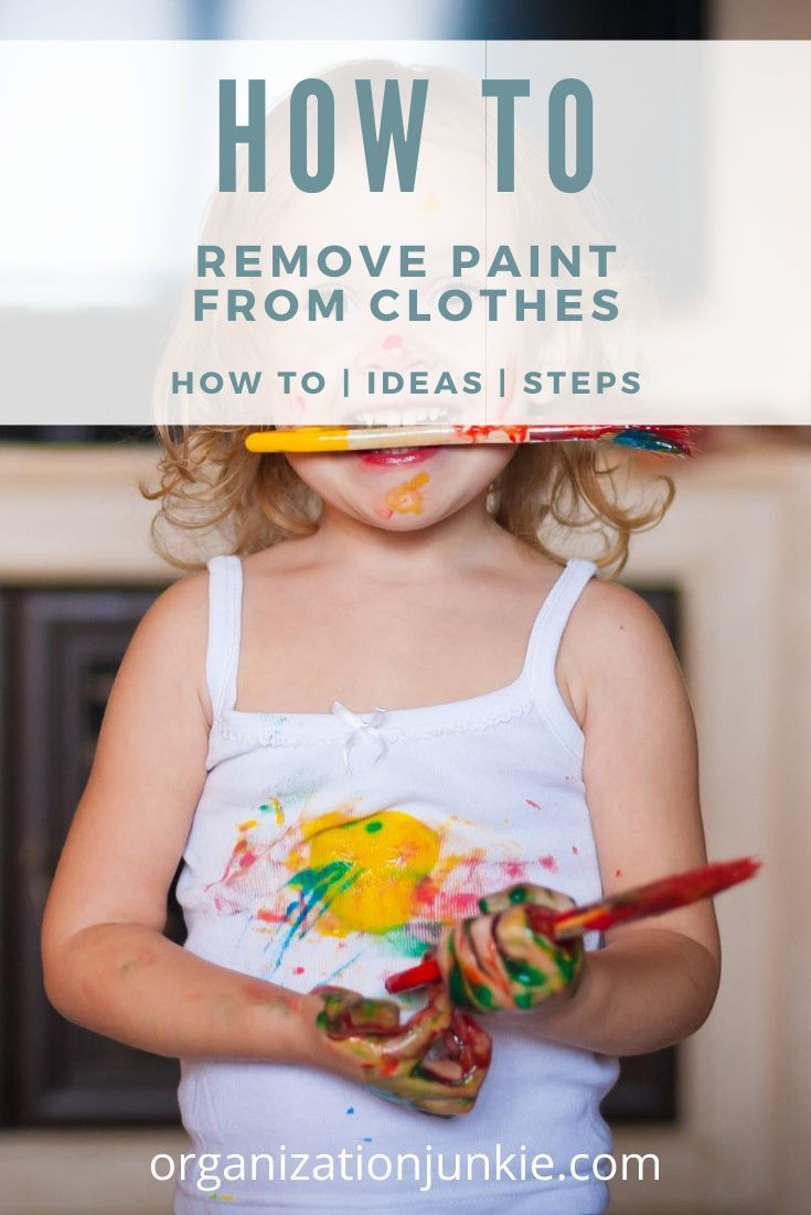 How to remove paint from any clothes in 2020 paint