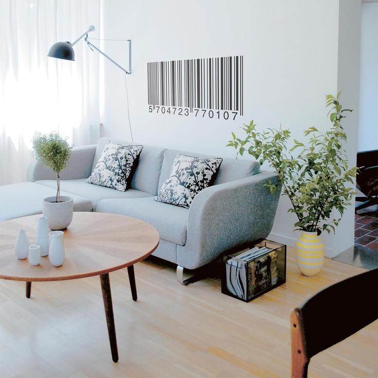 Barcode Wall Sticker #decal – pretty cool.